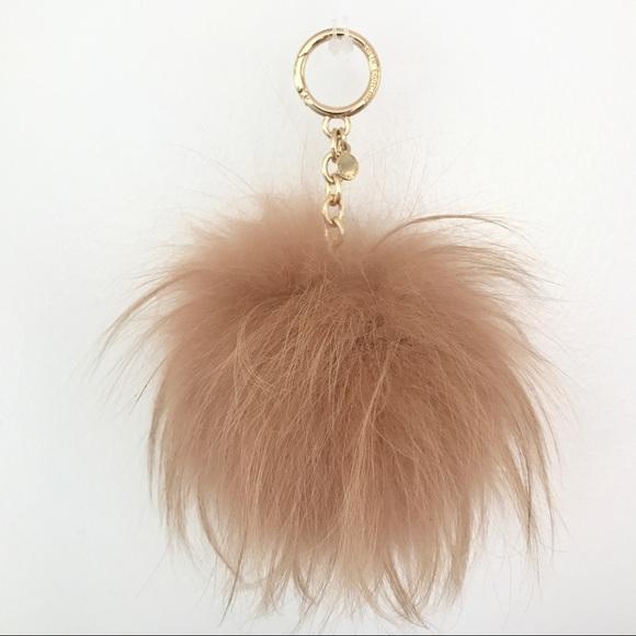 bc324ee8c36 Authentic MK fur Pom Pom key bag charm